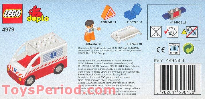 Lego 4979 Ambulance Set Parts Inventory And Instructions Lego