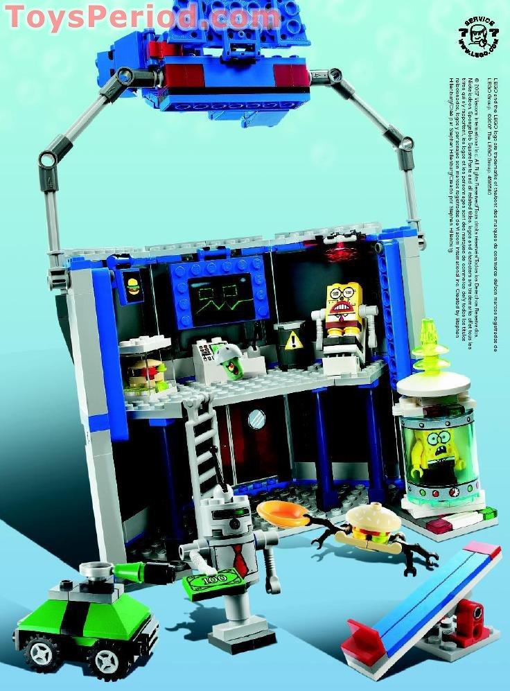 Lego 4981 Chum Bucket Set Parts Inventory And Instructions Lego