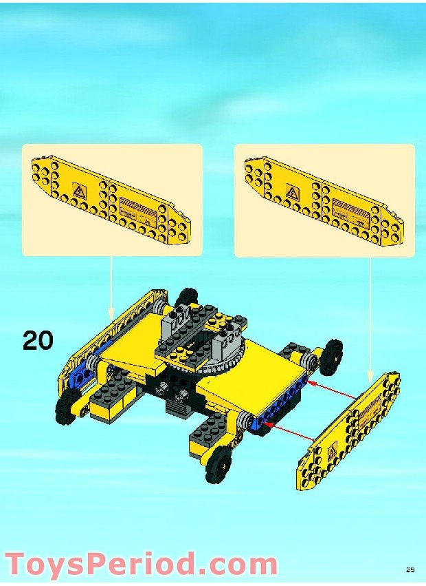 Lego 7632 Crawler Crane Set Parts Inventory And