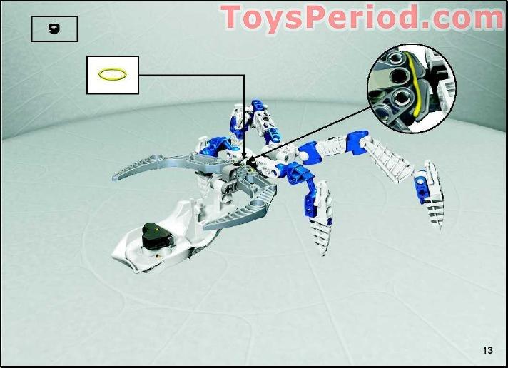 Lego 8747 Visorak Suukorak Set Parts Inventory And