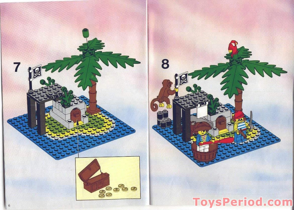 Lego 6260 Shipwreck Island Set Parts Inventory And Instructions