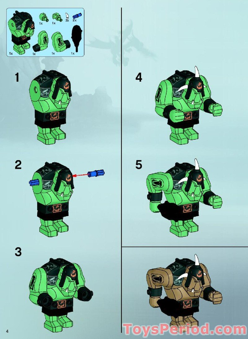 Lego fantasy era crown knight scale mail with crown breastplate - Trolls Mountain Fortress Free Instruction Page 4