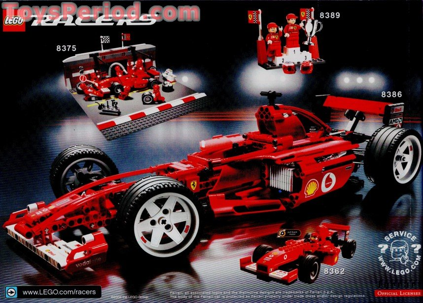 lego 8375 ferrari f1 pit stop set parts inventory and. Black Bedroom Furniture Sets. Home Design Ideas