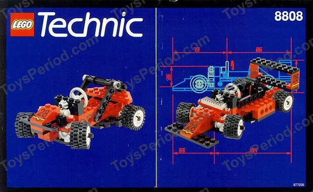 Lego 8808 Formula One Racer Classic 90s Technic Race Car
