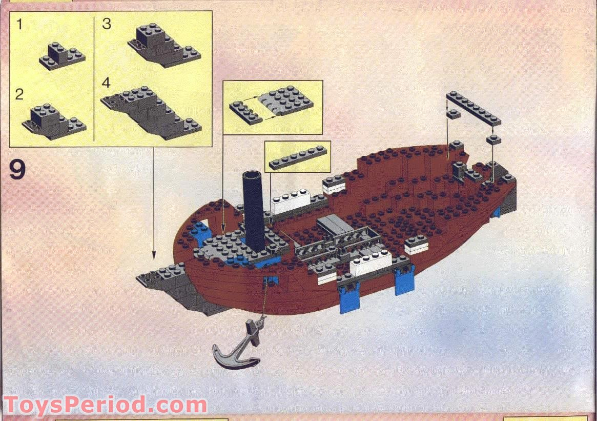 lego 6274 caribbean clipper set parts inventory and