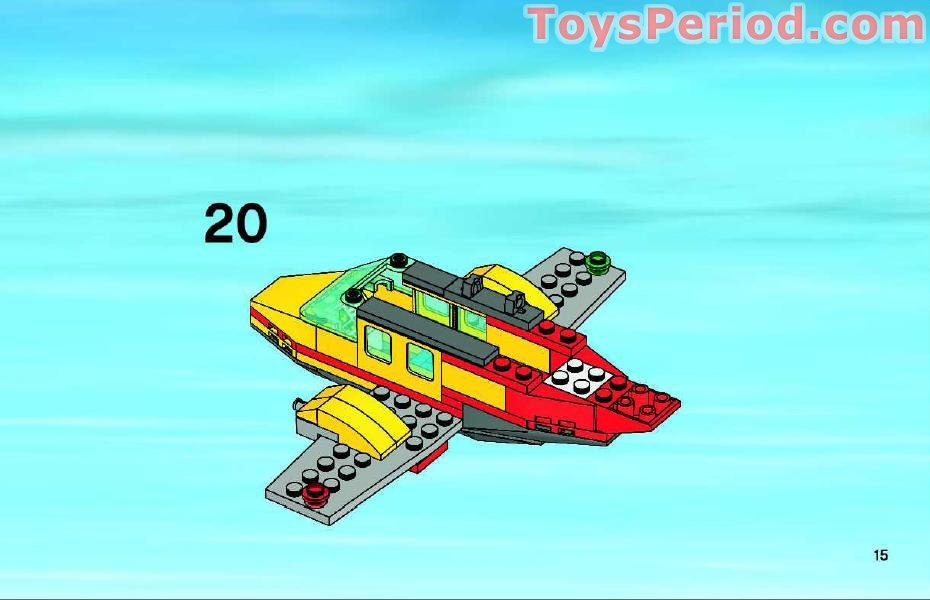lego plane building instructions