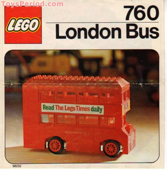 lego 760 2 london bus set parts inventory and instructions lego reference guide. Black Bedroom Furniture Sets. Home Design Ideas