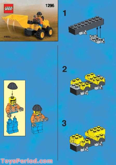 lego 1296 kabaya promotional set  land scooper set parts
