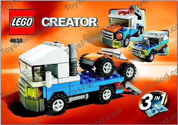 Lego 4838 Mini Vehicles Set Parts Inventory And Instructions Lego