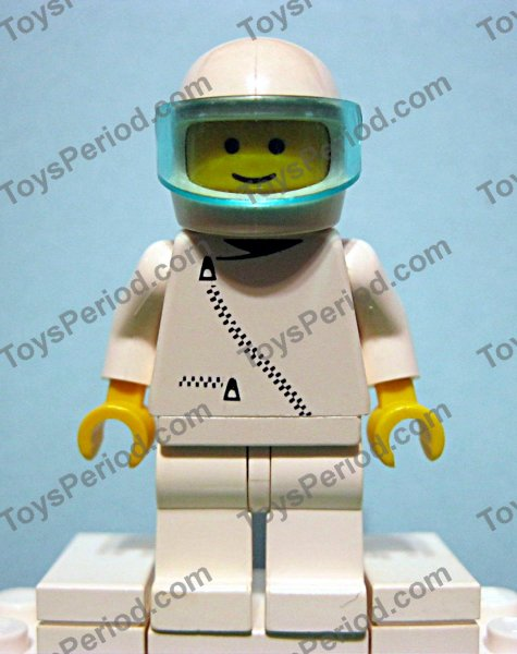 LEGO New Blue Minifigure Racing Helmet Red and White Checkered Flags Pattern