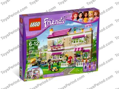 Lego 3315 Olivias House Set Parts Inventory And Instructions Lego