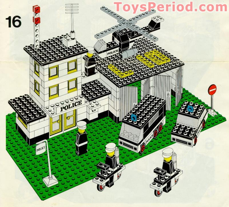 Lego 370 Police Headquarters Set Parts Inventory And Instructions