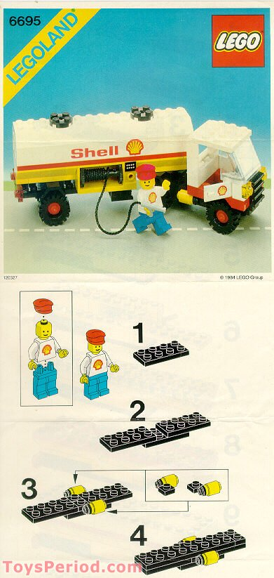 lego 6695 shell tanker truck set parts inventory and instructions lego reference guide. Black Bedroom Furniture Sets. Home Design Ideas