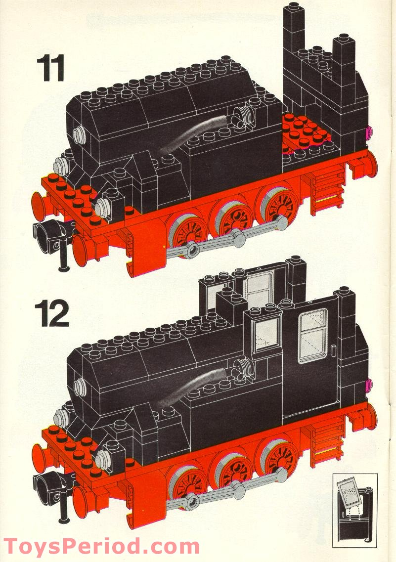 lego 7727 electric steam train set parts inventory and instructions