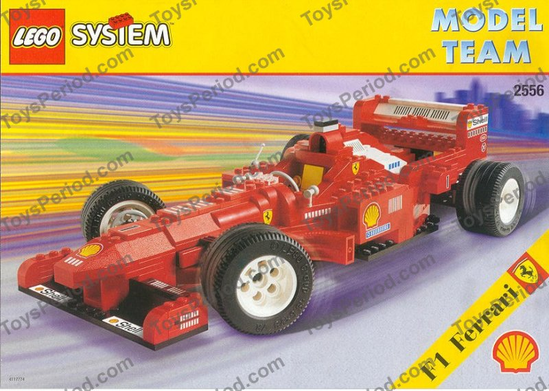 Lego 2556 Shell Promotional Set Ferrari Formula 1 Racing Car Set