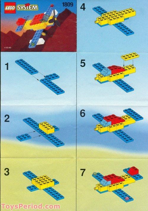 Lego 1809 Promotional Set Airplane Polybag Set Parts