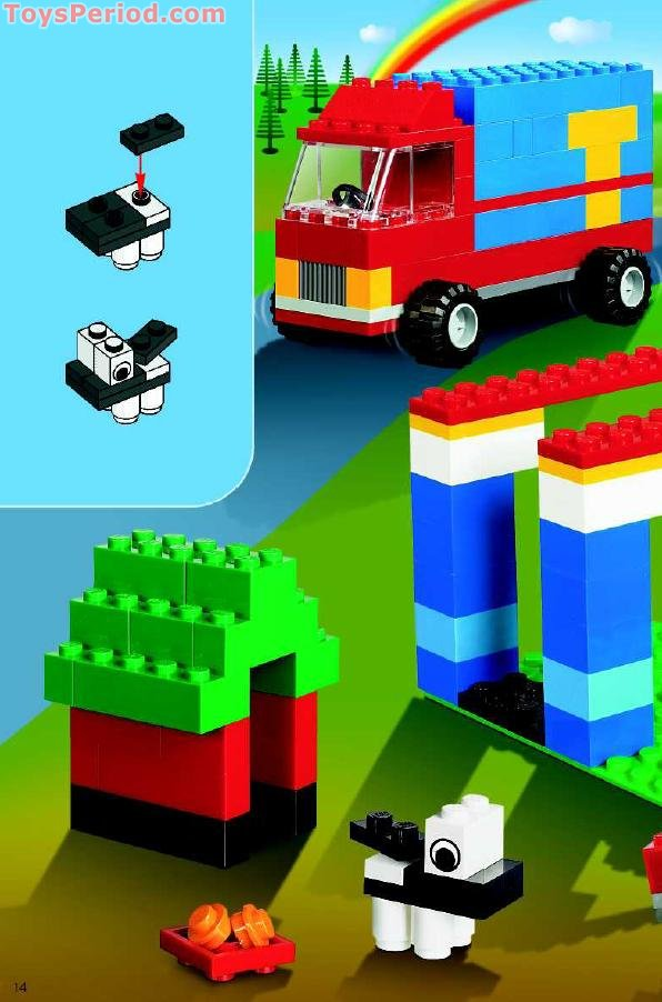 Lego 6166 Large Brick Box Set Parts Inventory And Instructions Lego Reference Guide