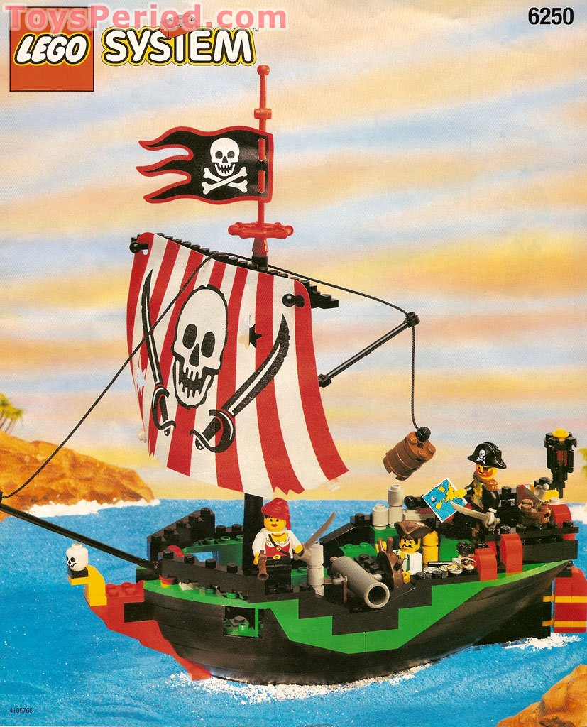 Lego 6250 Cross Bone Clipper Set Parts Inventory And Instructions