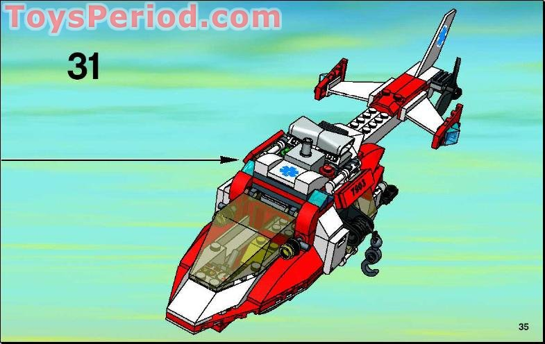 lego rescue helicopter instructions