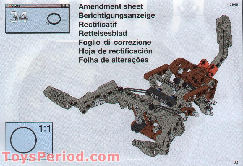 Lego 8002 Destroyer Droid Set Parts Inventory And Instructions