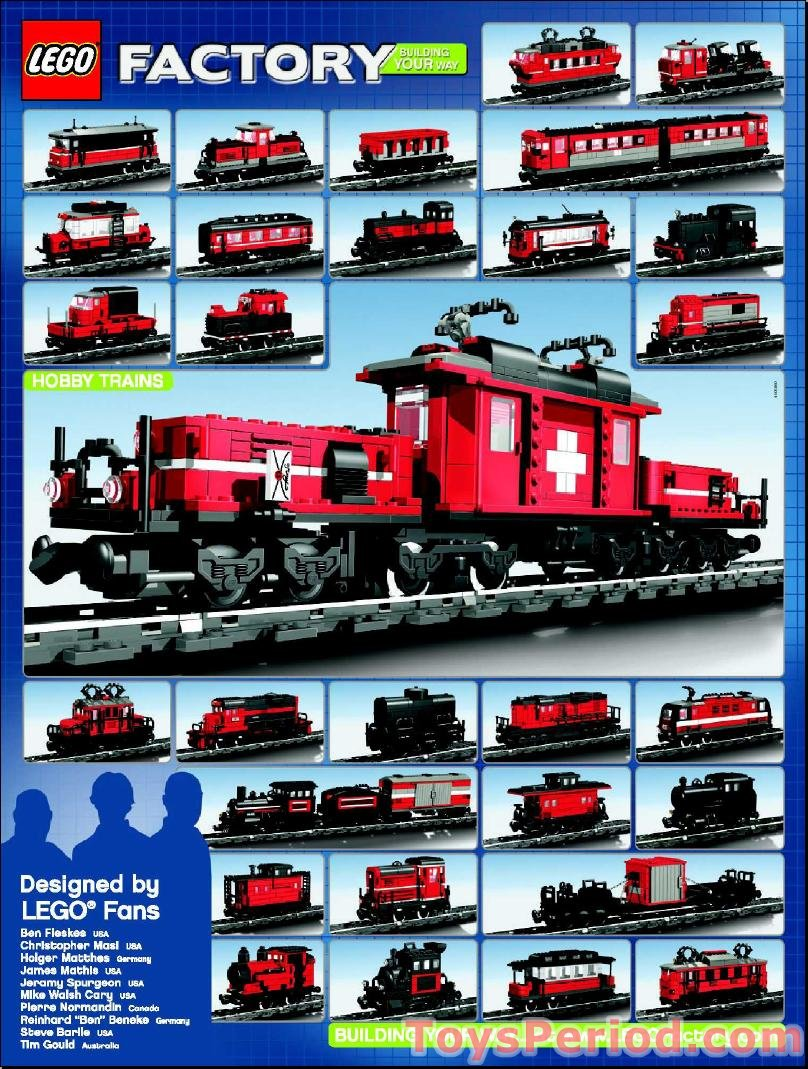 Lego 10183 Hobby Train Set Set Parts Inventory And