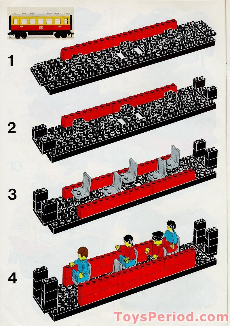 Lego 7740 12v Electric Inter City Passenger Train Set Set