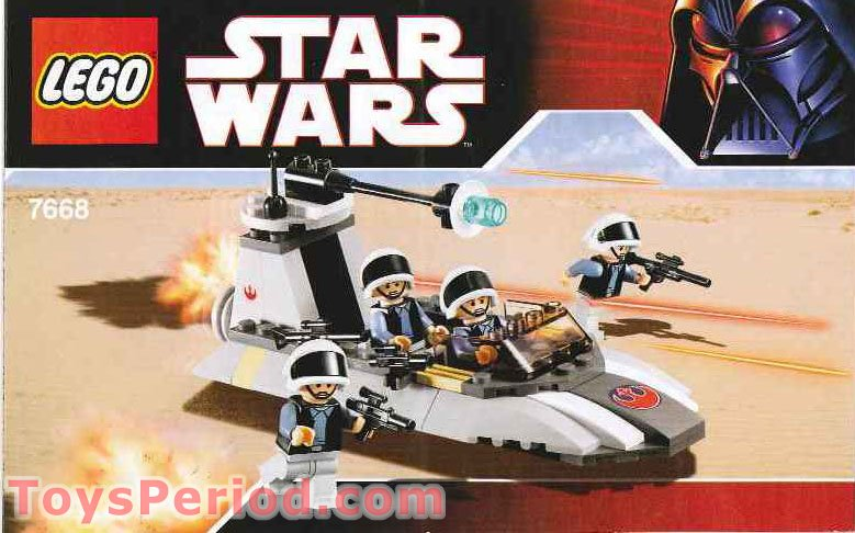 Lego 7668 Rebel Scout Speeder Set Parts Inventory And Instructions