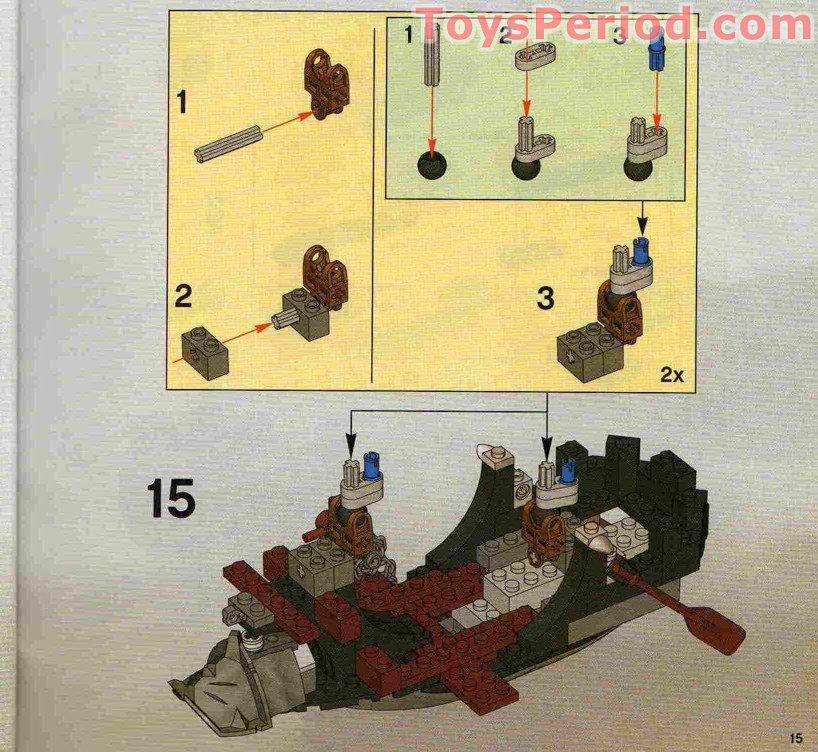 Lego 8821 Rogue Knight Battleship Set Parts Inventory And