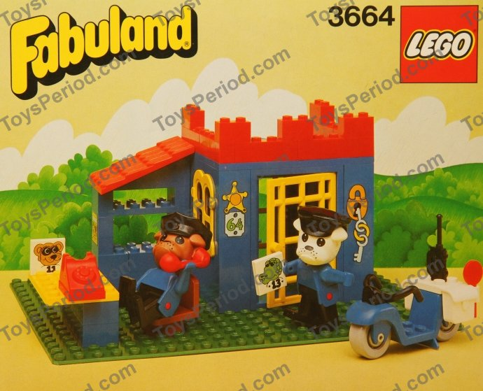 Lego 3664 Police Station Set Parts Inventory And Instructions Lego