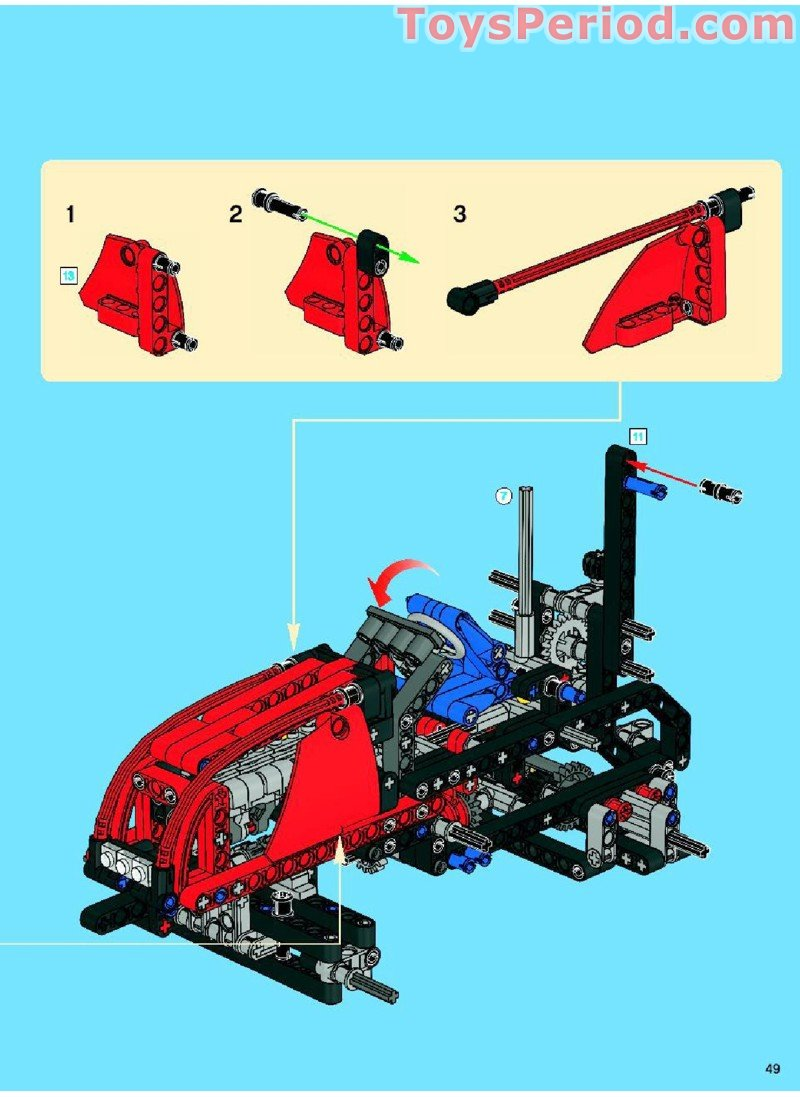 lego technic tractor instructions