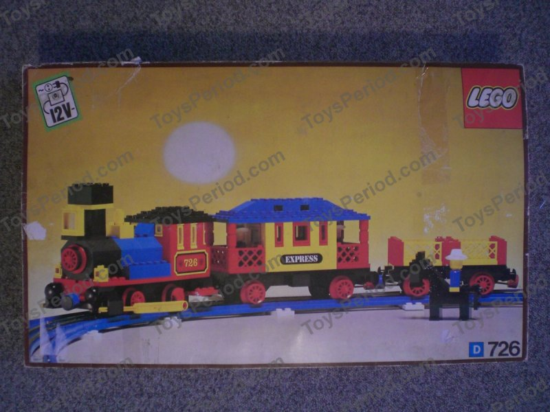Western Bedroom Tank Toy Box Or: LEGO 726 12v Western Train With Two Wagons And Cowboys Set