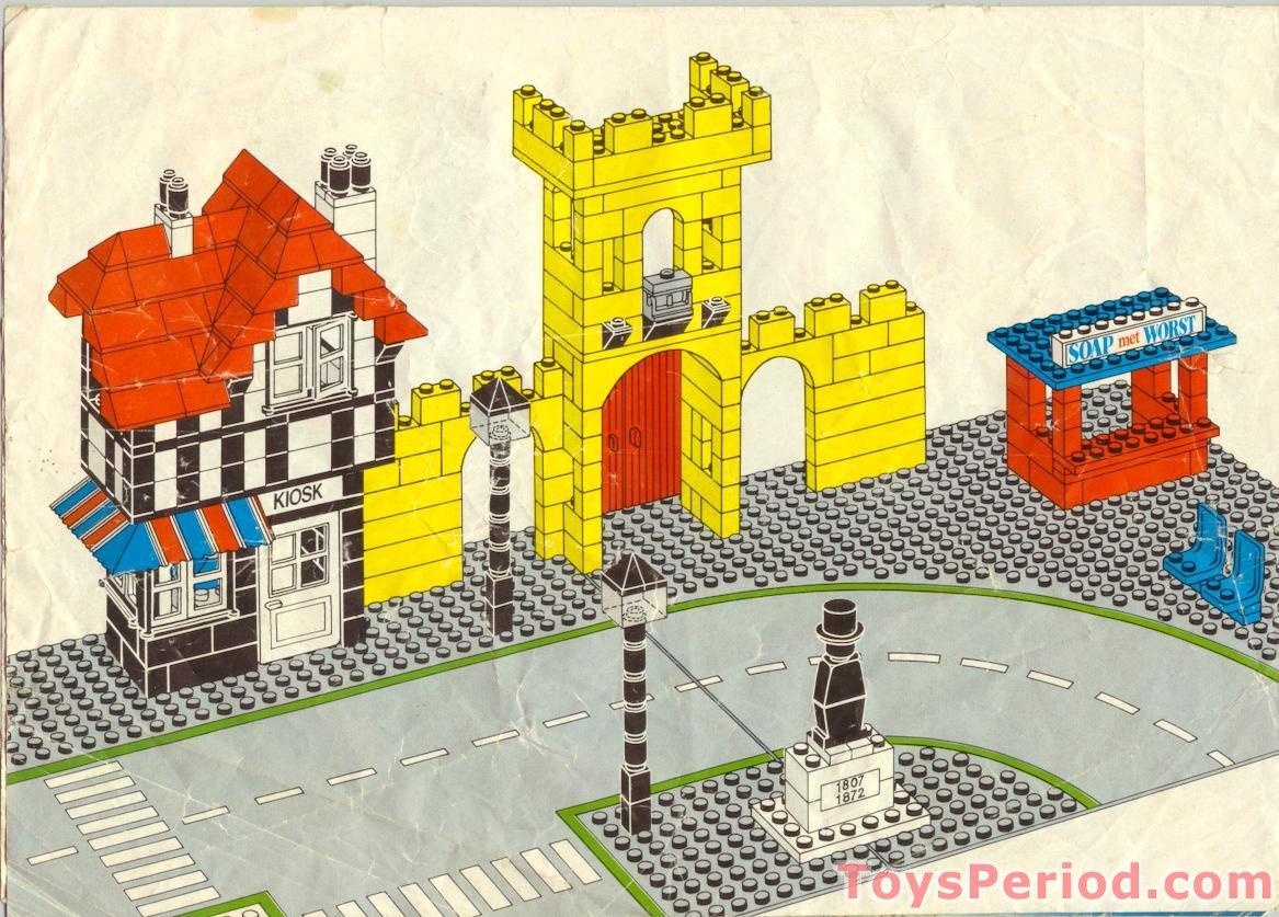 lego 1592-2 town square - castle scene - dutch edition set parts