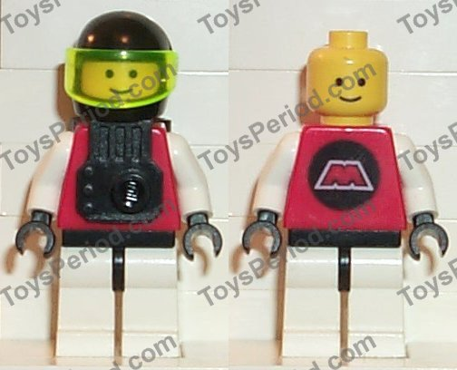 *NEW* 4 Sets LEGO Minifig RED Helmet with WHITE STAR and VISOR 2446