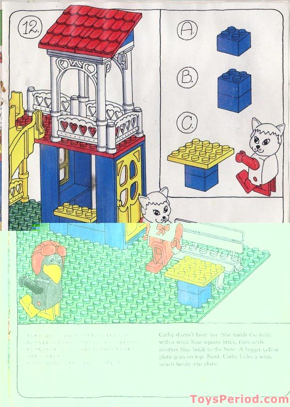 Lego 3676 Catherine Cat S Fun Park Set Parts Inventory And