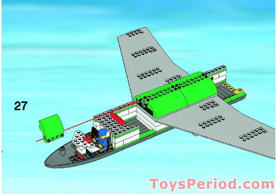 lego airport cargo plane instructions
