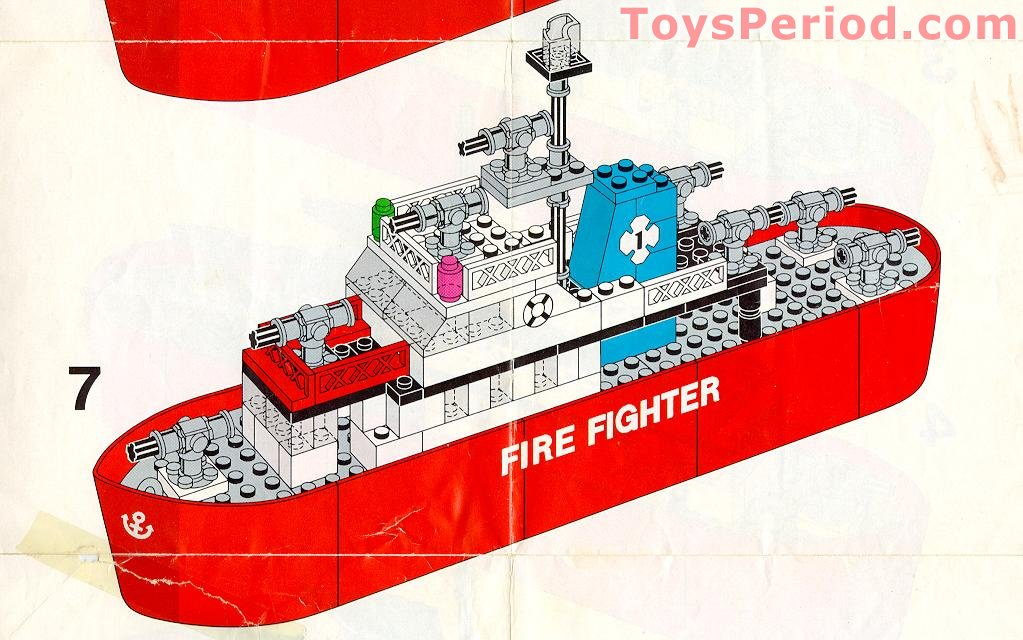 Lego 316 1 Fire Fighter Boat Set Parts Inventory And Instructions