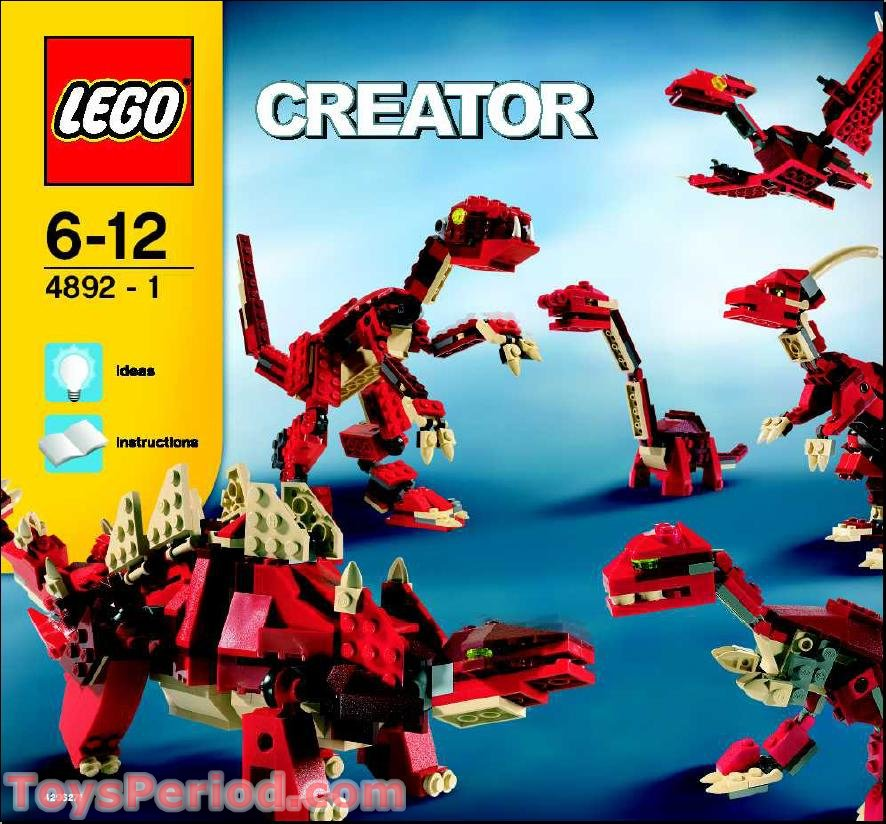 Lego 4892 Prehistoric Power Set Parts Inventory And