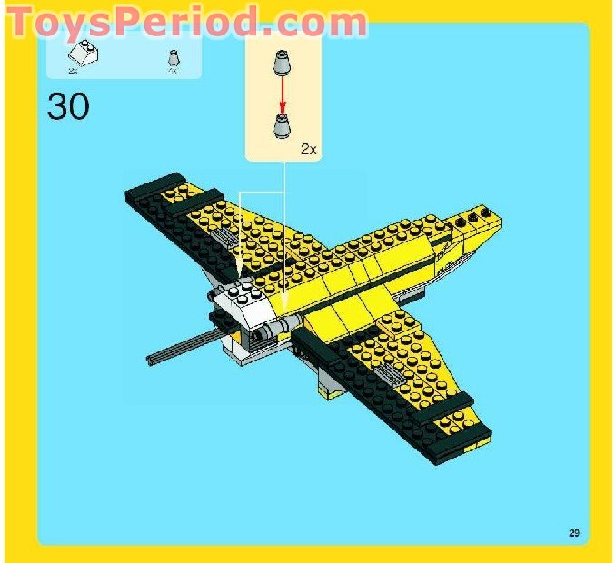 Lego 6745 Propeller Power Set Parts Inventory And Instructions