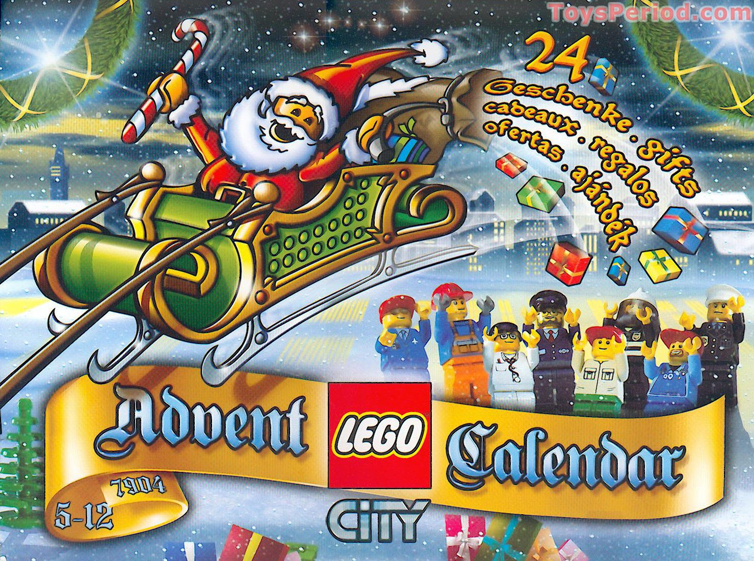 Lego 7904 1 Advent Calendar 2006 City Set Parts Inventory