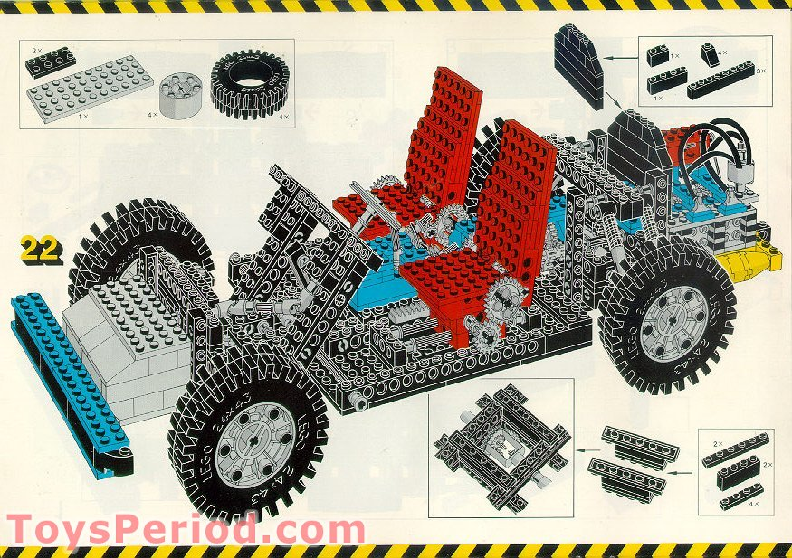 Lego 8860 Auto Chassis Set Parts Inventory And Instructions Lego