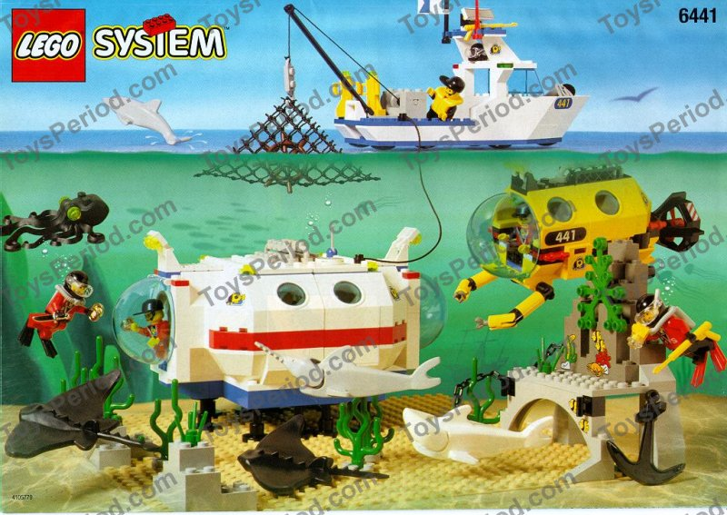 Lego 6441 Deep Reef Refuge Set Parts Inventory And Instructions