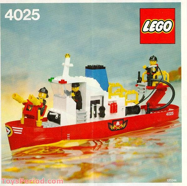 Red G Wagon >> LEGO 4025 Fire Boat Set Parts Inventory and Instructions