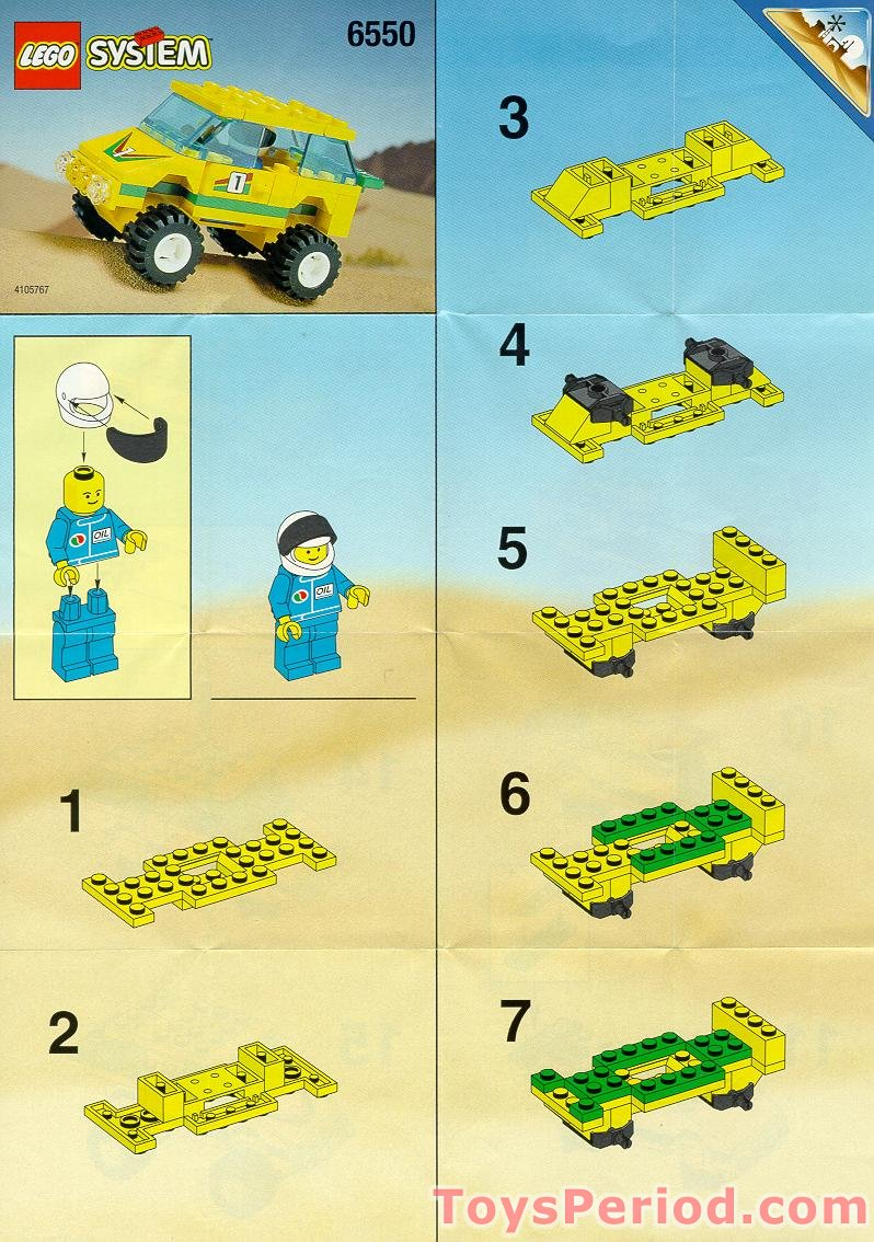 LEGO 6550 Outback Racer Set Parts Inventory and ...