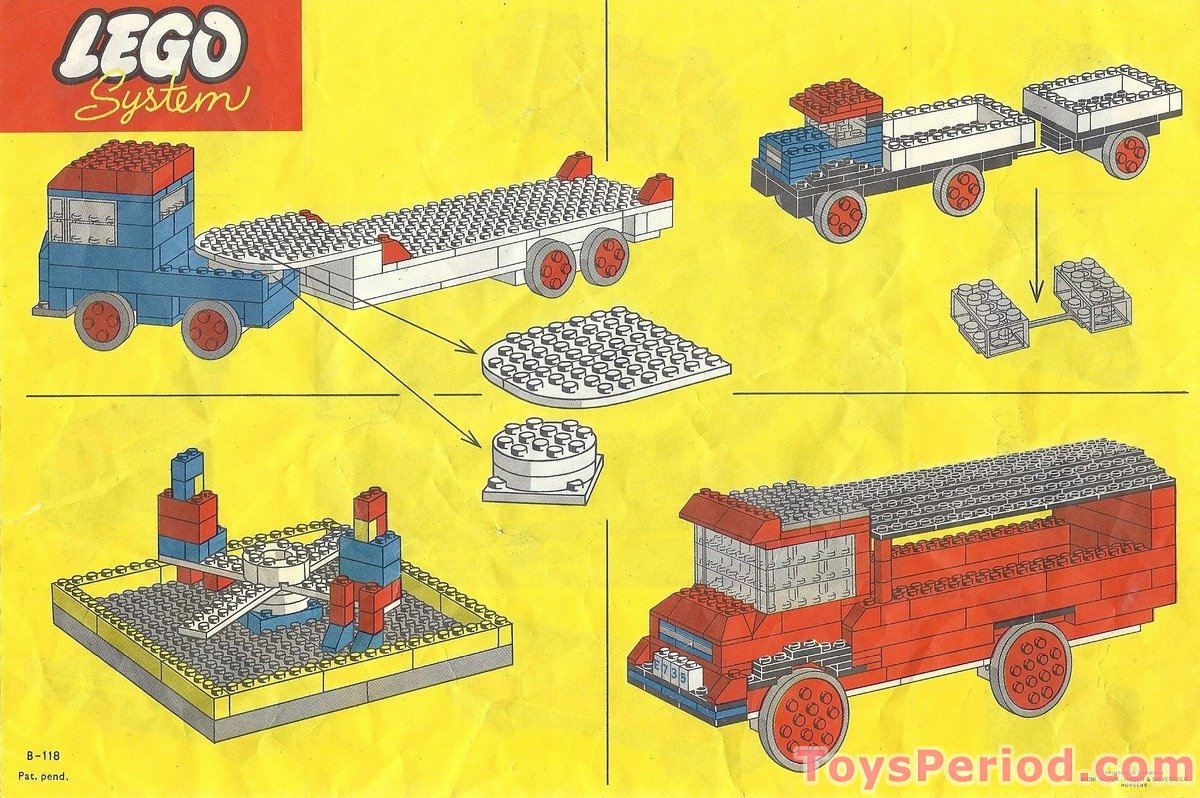 Lego 314 2 large and small wheels and turn table set parts