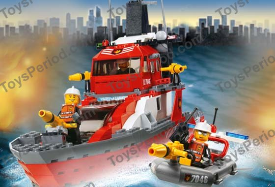 Lego 7046 fire command craft set parts inventory and for Lego world craft