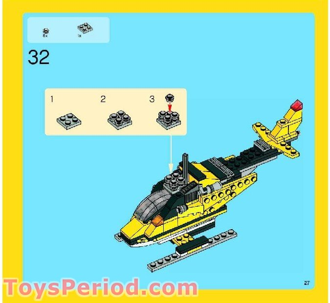 lego creator 3 in 1 plane instructions