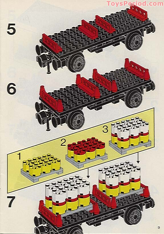 Lego 7722 Steam Cargo Train Battery Set Parts Inventory And