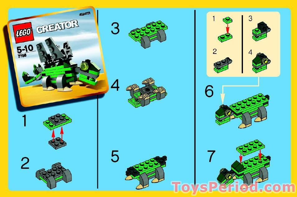 Lego 7798 Stegosaurus Set Parts Inventory And Instructions Lego