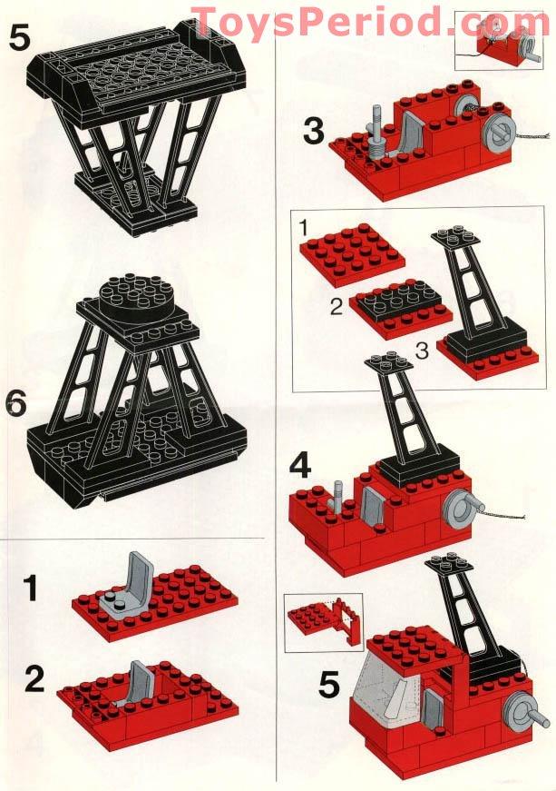 LEGO TRAIN vintage red tipper end ref 3436 set 740 7838 Goods loading terminal