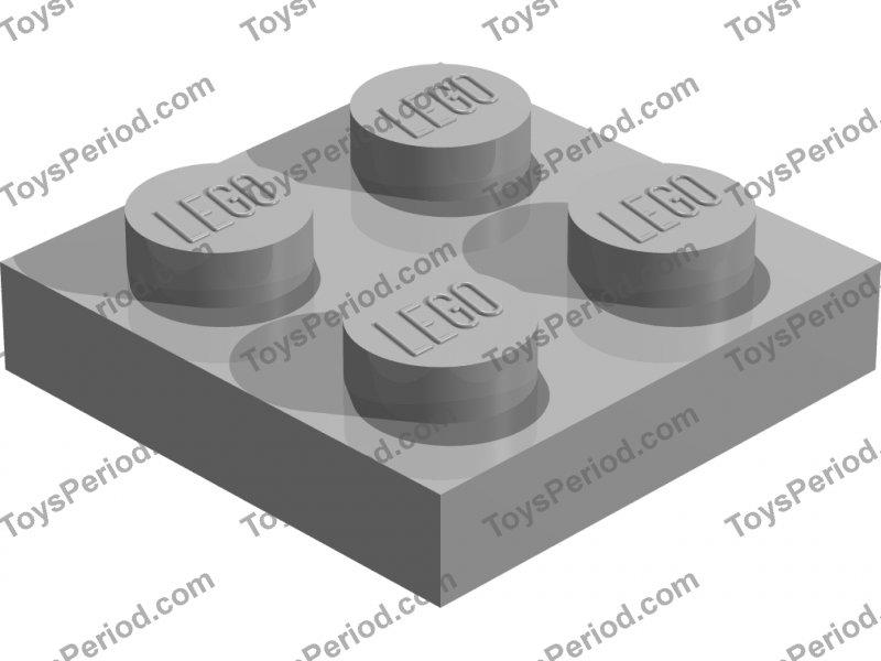 Black plate x 10-2x2 NEW LEGO 2 x 2 PLATES